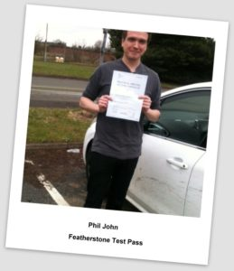 Phil pass pic2 259x300 Driving Lessons Cannock, Driving Test Success for Phil!