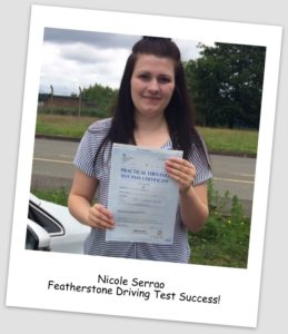 Nicole blog pass pic 259x300 Driving Lessons Bloxwich, Driving Test Success for Nicole!