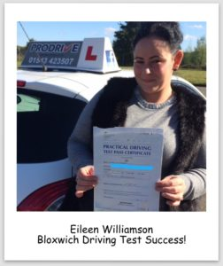 Eileen Pass Pic2 252x300 Driving Lessons Bloxwich, First Time Pass for Eileen!